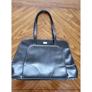 Case logic leather black tote bag for laptop
